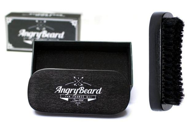 AngryBeard - Brosse à barbe en bois noir