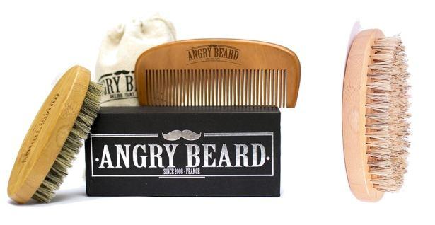 AngryBeard - Coffret brosse et peigne