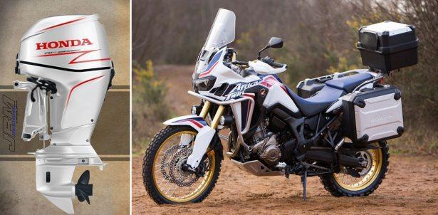Un nouveau moteur design en hommage à la moto trail Africa Twin de Honda