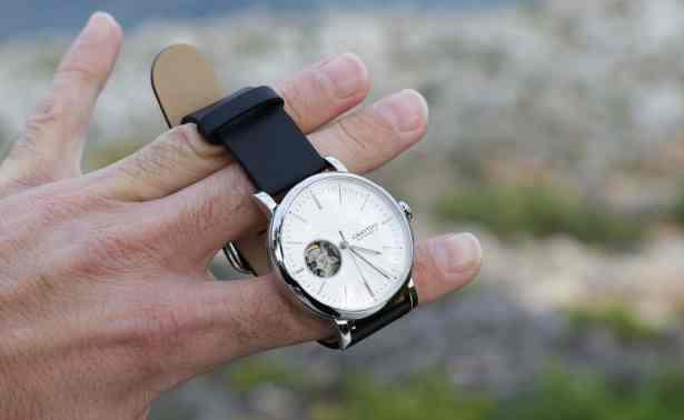 Montre automatique Grayton Minimaliste bracelet en Cuir souple véritable