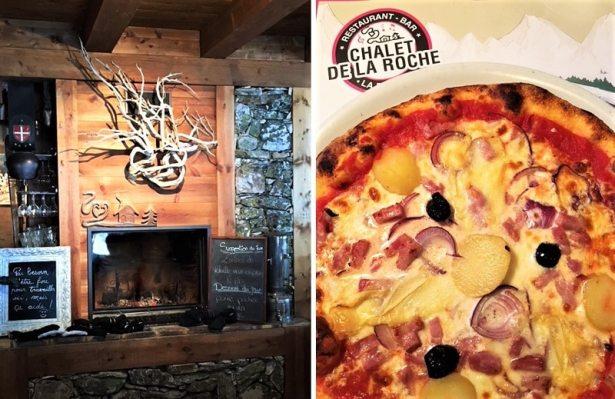 Des pizzas au feu de bois au Chalet de la Roche à La Plagne !