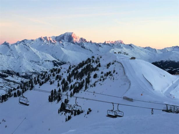 Se réveiller face au Mont-Blanc après une nuit en dameuse - la Plagne