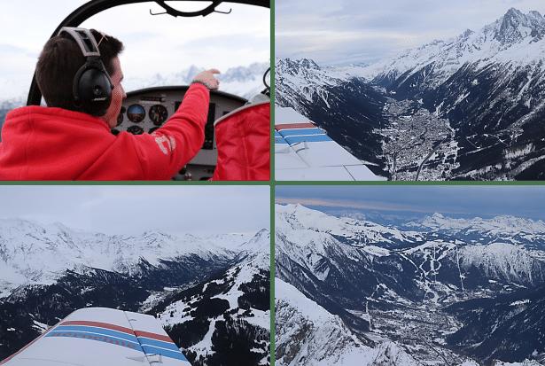 Voler au-dessus de la vallée de Chamonix