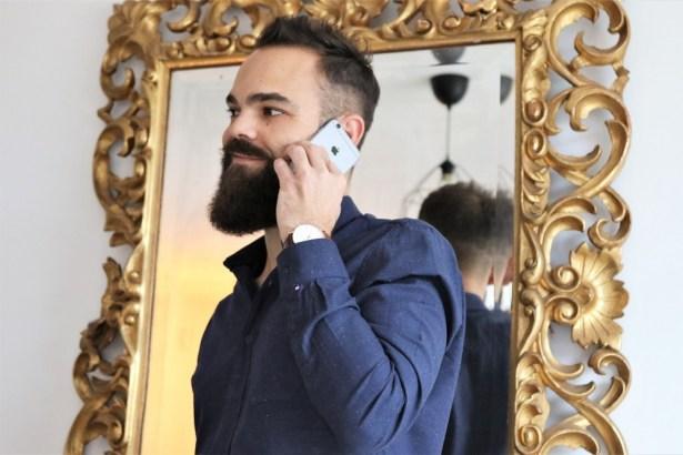 FYU, Chemise Montmartre Bleu Marine pour homme - chemise casual
