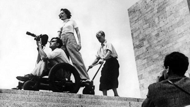 "Tournage du film ""les dieux du stade"" en 1936"