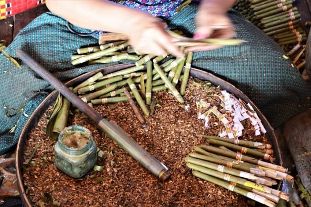 Lac Inle, Birmanie, fabrication de cigares birmans