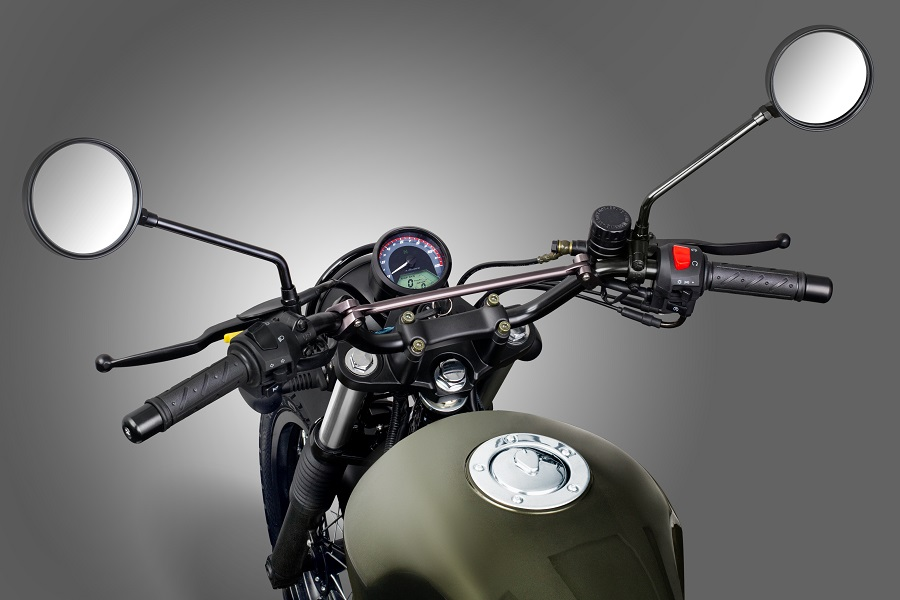 "Moto Bullit Bluroc 250 vert ""British Racing Green"" métallisé brillant"