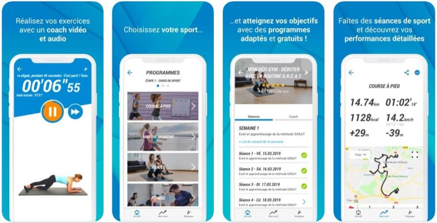 Application Decathlon Coach, Run & Fitness pour faire du sport à la maison