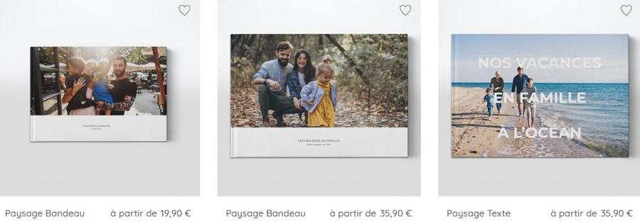 Personnalisation de votre livre photos en ligne