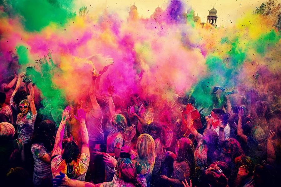 Fête des couleurs, le Holi Holi.