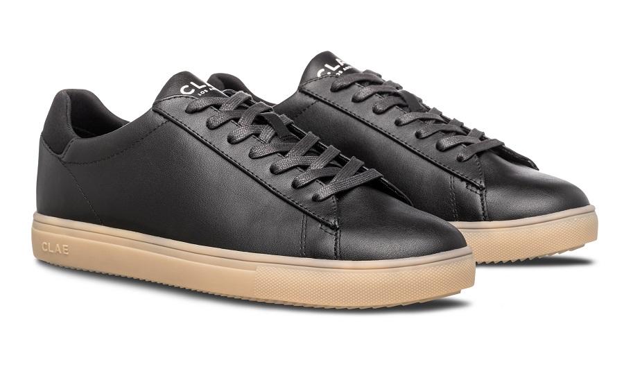 Chaussures en cuir de cactus CLAE noir