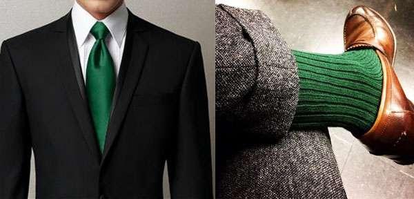 Par exemple : assortir la couleur de sa cravate à ses chaussettes
