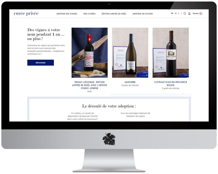 Cuvée Privée : adoptez vos pieds de vigne en ligne