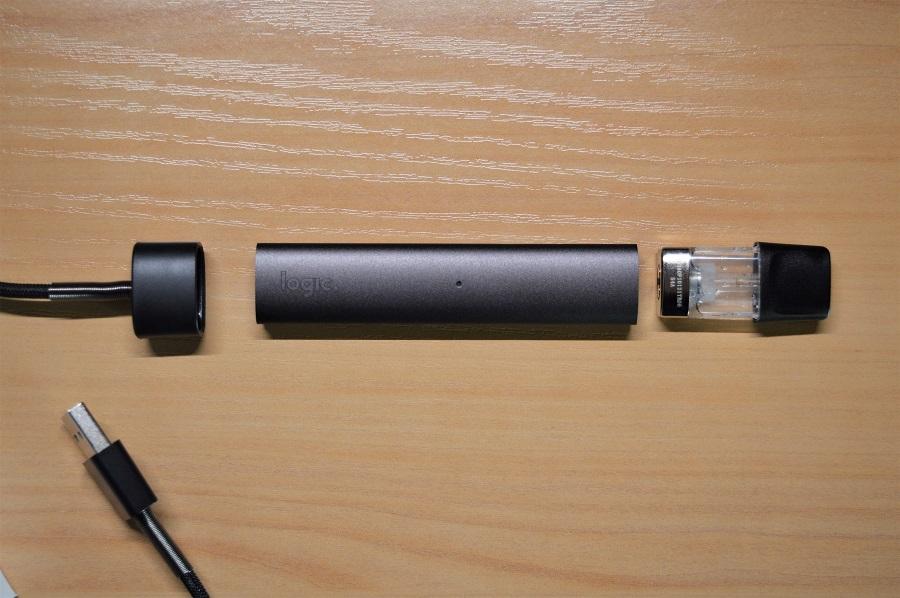 Eléments d'une cigarette électronique LOGIC COMPACT