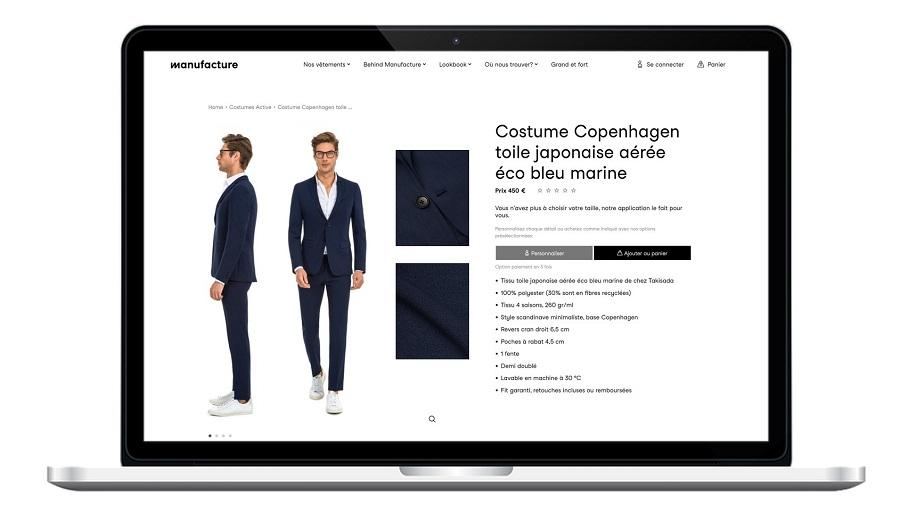 costume Copenhagen toile japonaise aérée éco bleu marine à 450€