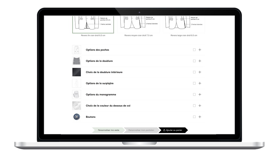 Personnalisation de la veste de costume Manufacture