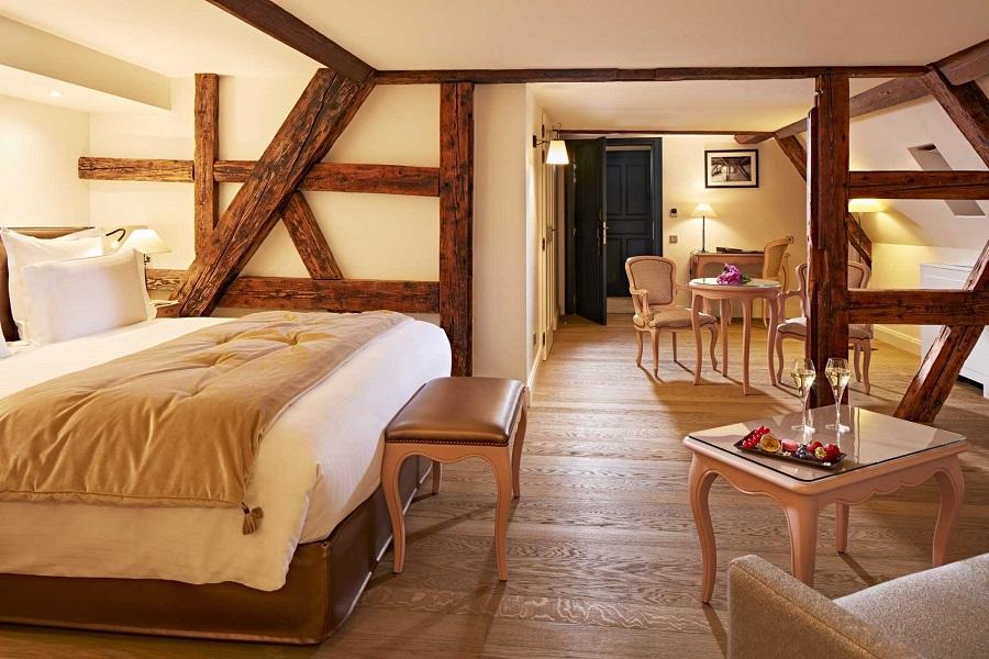 Chambre hôtel Cour du Corbeau - Strasbourg - Photo@Philippe-Sautier.
