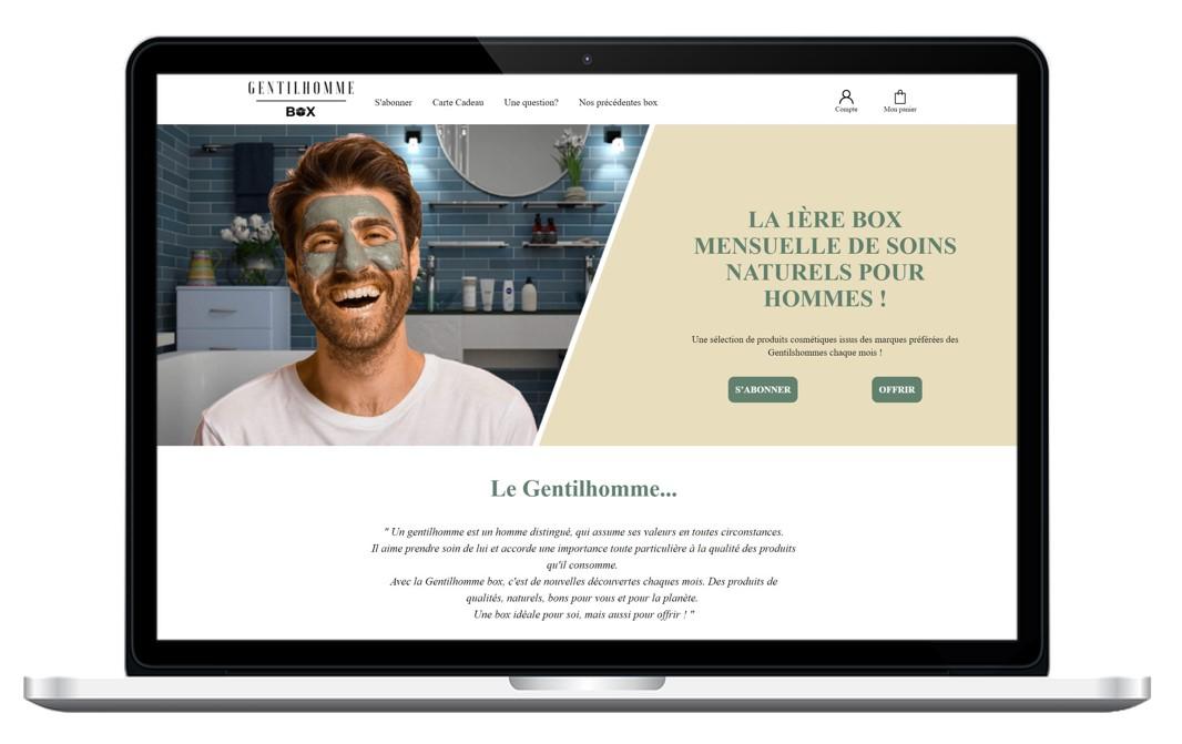 Site internet de la Gentilhomme Box