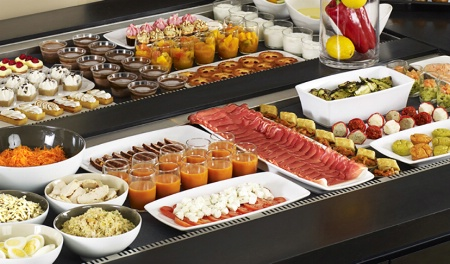 proportions requises pour un buffet froid