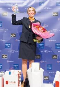 Elsa Jeanvoine remporte le 1er Trophée du maître d'hôtel.