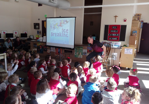 Author Kyle Torke at All Souls school, Englewood Colorado