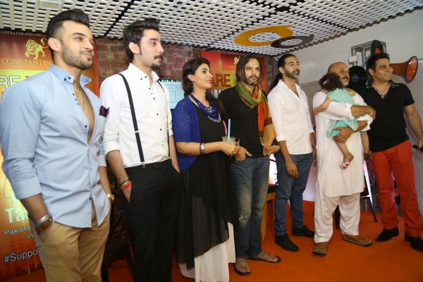 Celebrities on stage - Taazi Launch