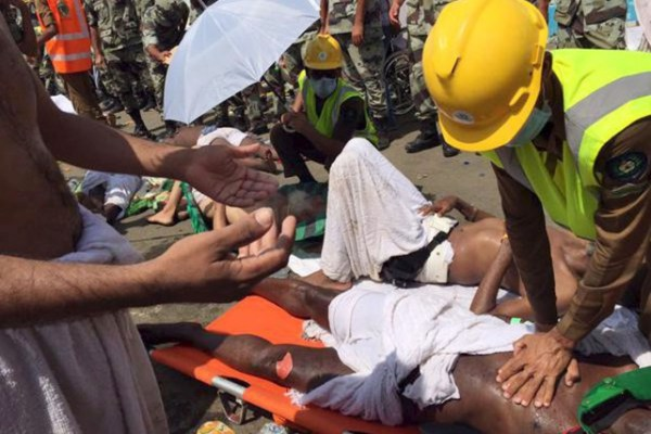 Hundreds of people were killed and more were injured in a stampede in Mecca, September 23, 2015.