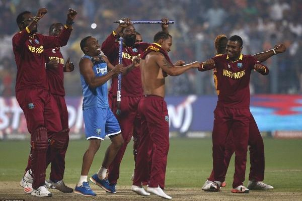 west indies wins t20 world cup remove their shirts
