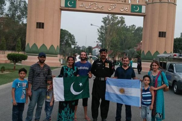 Eric Lancon and his wife Ayu at Wagah border.