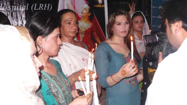 TransAction Alliannce organized vigil in protest against the transphobic beahviour of LRH administration