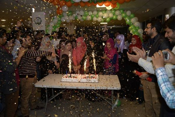 Cake cutting at Lahore Operations Oiffce