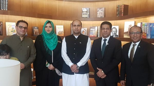 CWA Mehmood Latif with the management of Courtyard Marriott Olaya