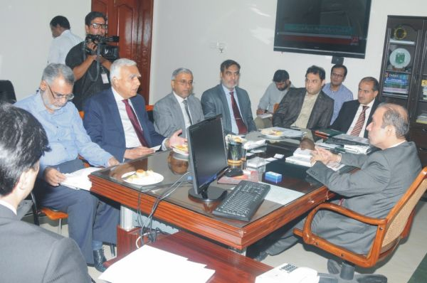 LAHORE: Technical Education and Vocational Training Authority (TEVTA) and National University of Science and Technology (NUST) will cooperate for technical and vocational courses for NUST's Sialkot Campus. A meeting in this regard was held at TEVTA Secretariat which was attended by Chairman TEVTA Irfan Qaiser Sheikh, Pro Rector NUST (Academics) Air Vice Marshal R Dr Asif Raza, Director Academics Dr Qaiser Hameed Malik and others were present on occasion. In meeting officials from both organizations decided to join hands for the promotion of technical and vocational education as well as provision of skilled labour for the industry particularly industry of Sialkot. Chairman TEVTA Irfan Qaiser Sheikh vowed that TEVTA will fully cooperate with NUST for the provision of quality training to our youth. He also said that TEVTA and NUST can cooperate for the technical and vocational sector in multiple ways. He also offered NUST officials that NUST's faculty can start any industry's demanded course at any of TEVTA's institute across the Punjab. Besides he also announced that TEVTA will also provide cooperation for technical and vocational courses at NUST's Sialkot Campus. Chairman also said that TEVTA has been striving for the provision of skilled labour for serving the country. He said that TEVTA's has remarkably increased the number of short courses in last three years and special focus is on the linkage of those short courses with the demands of industry. He added that demand driven courses of TEVTA are not only providing labour force in local industry but in foreign countries too. He also informed NUST delegation that TEVTA is also setting up an university in a Government College of Emerging Technologies Township which will be later shifted to state of the art campus at Government College of Technology Raiwind Road. NUST delegation and officials shown keen interest to be part of Pakistan's first ever technical university being established by TEVTA. NUST Pro Rector Dr Asif Raza said that NUST can start any specialized technical degree program at University where the NUST faculty will also taught students. NUST's Sialkot campus we are offering several programs but we felt that there is dire need to focus on skilled technical courses with the respective needs of the Sialkot's industry, therefore we believed that TEVTA's cooperation will help us in provision of skilled labour force for local industry, NUST Pro Rector explained.