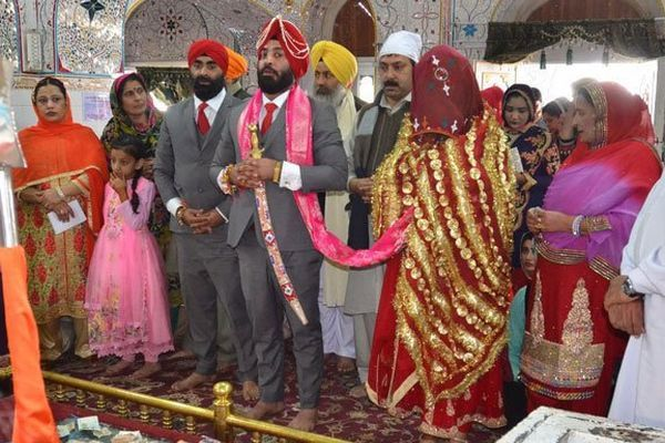 The wedding ceremony of Major Hercharn Singh, a serving officer in the Pakistan Army, who got married in December 2017.