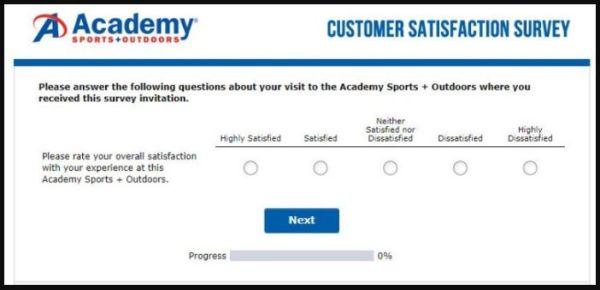 Academy Sports + Outdoors Survey