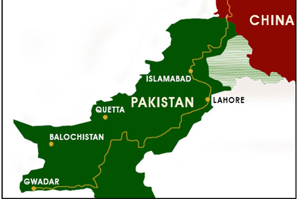Image result for Pakistan, Balochistan, CPEC, western route, map