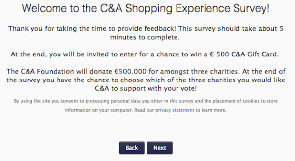 C&A Shopping Survey