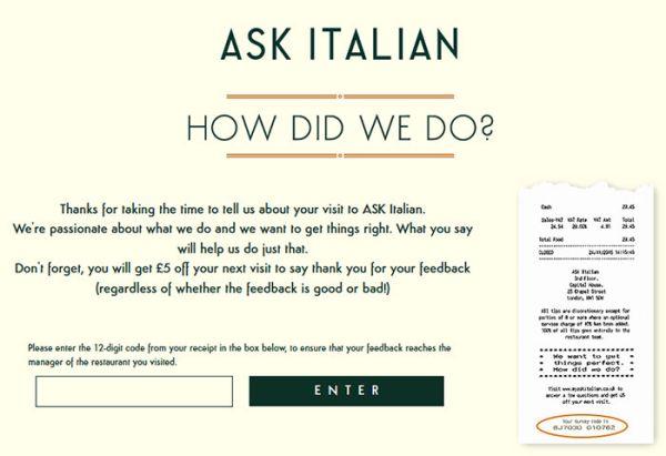 Ask Italian Survey