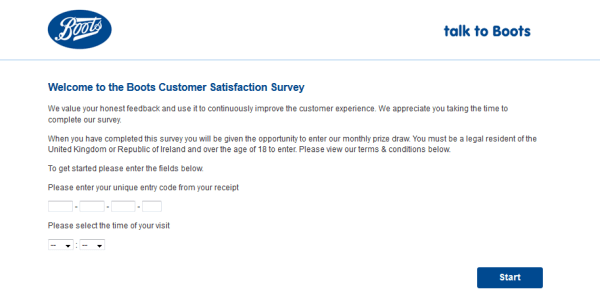 Boots UK Survey