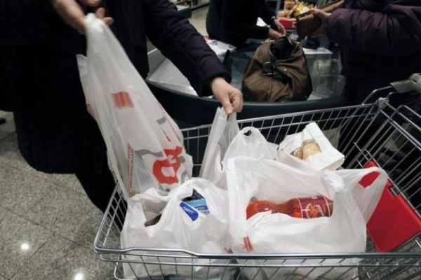 plastic bags at departmental stores