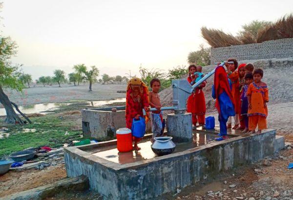 Hand pump installed by TRDP at village Sonu Khan Rind