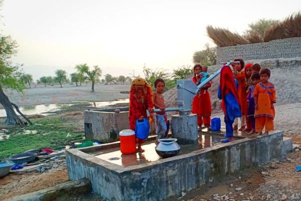Hand pump installed by TRDP at village Sonu Khan Rind