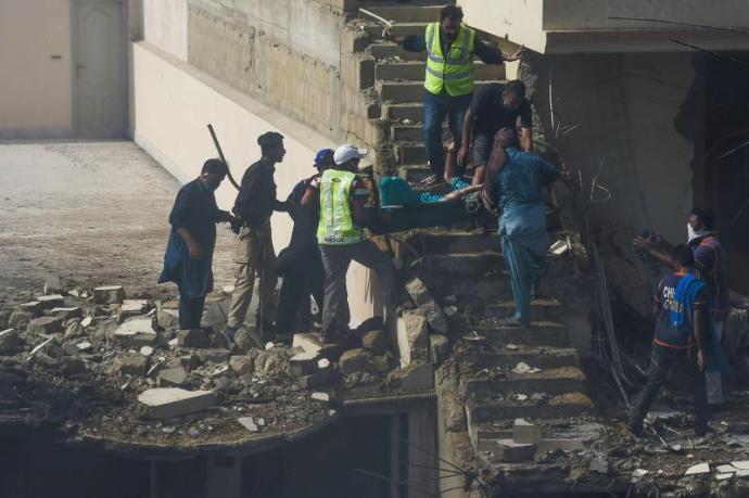 Karachi plane crash site