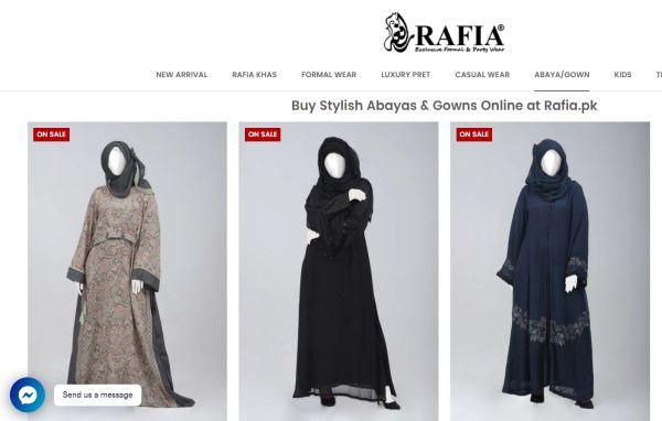 Rafia Islamic Gowns Abayas