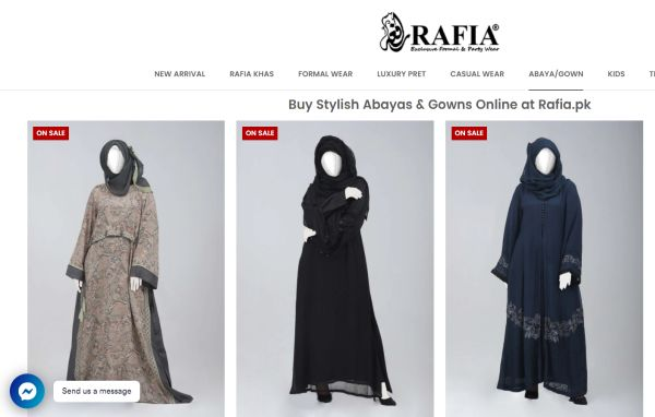 Rafia Islamic Gowns Abayas