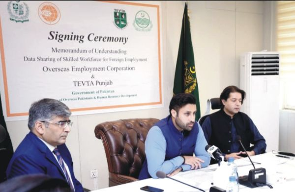 TEVTA joins hands with OEC for foreign job placements for its students: Ali Salman Siddique