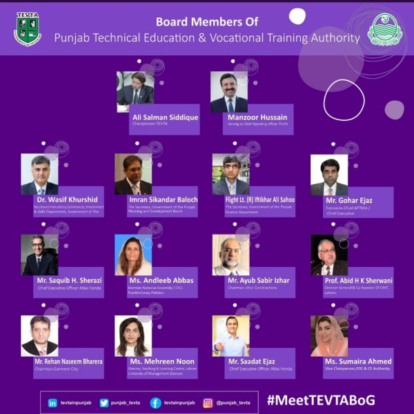 TEVTA re-constitutes Board of Governors