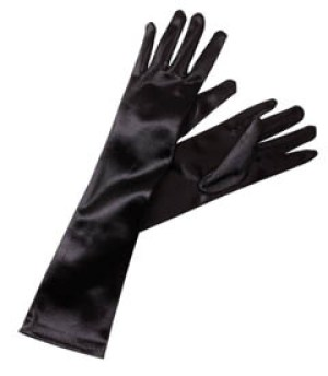 Classic Adult Size Long Opera Length Satin Gloves