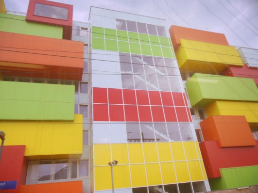 Colorful building somewhere between Budapest & Munich