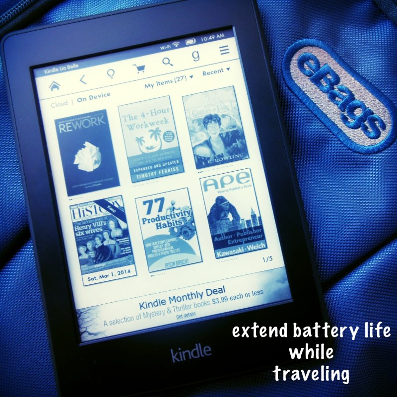 Extend Kindle Paperwhite battery life while traveling